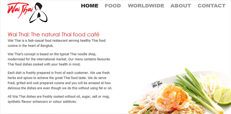 Jon Combe Portfolio Wai Thai The Natural Thai Food